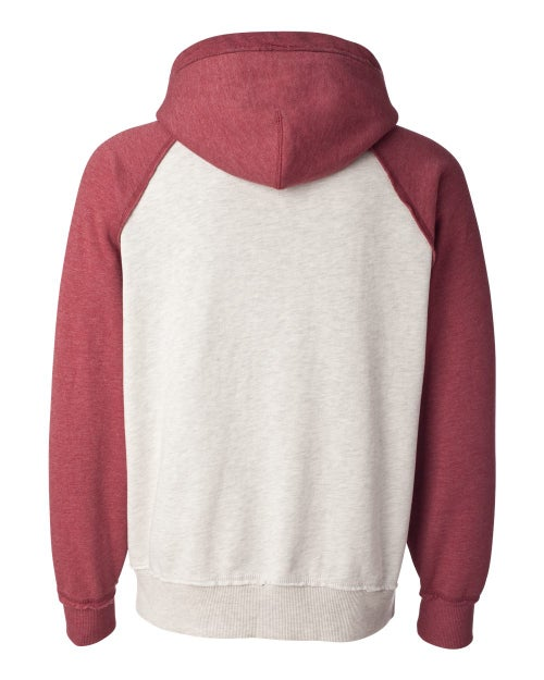 Image of BW Oatmeal Heather/ Simply Red Heather Sweater - 8885