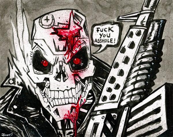 Image of 'Terminator' Original Painting