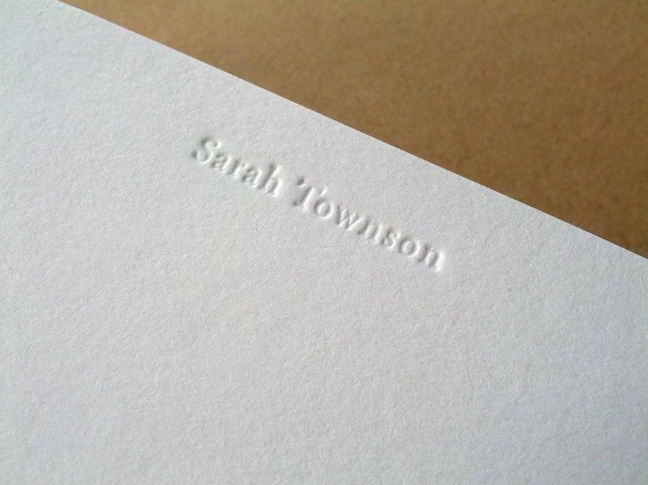 Image of Personalised Notecards, inkless print, set of 75