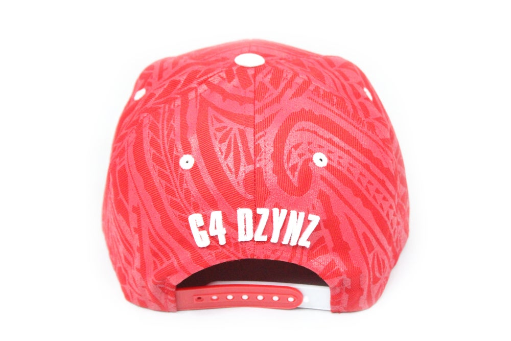 Image of C4 monogram hat - red