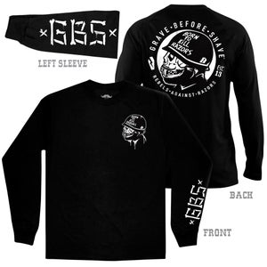 Image of GRAVE BEFORE SHAVE Long Sleeve BORN TO KILL RAZORS shirt