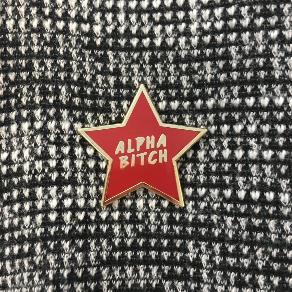 Image of Alpha Bitch Pin (Red)