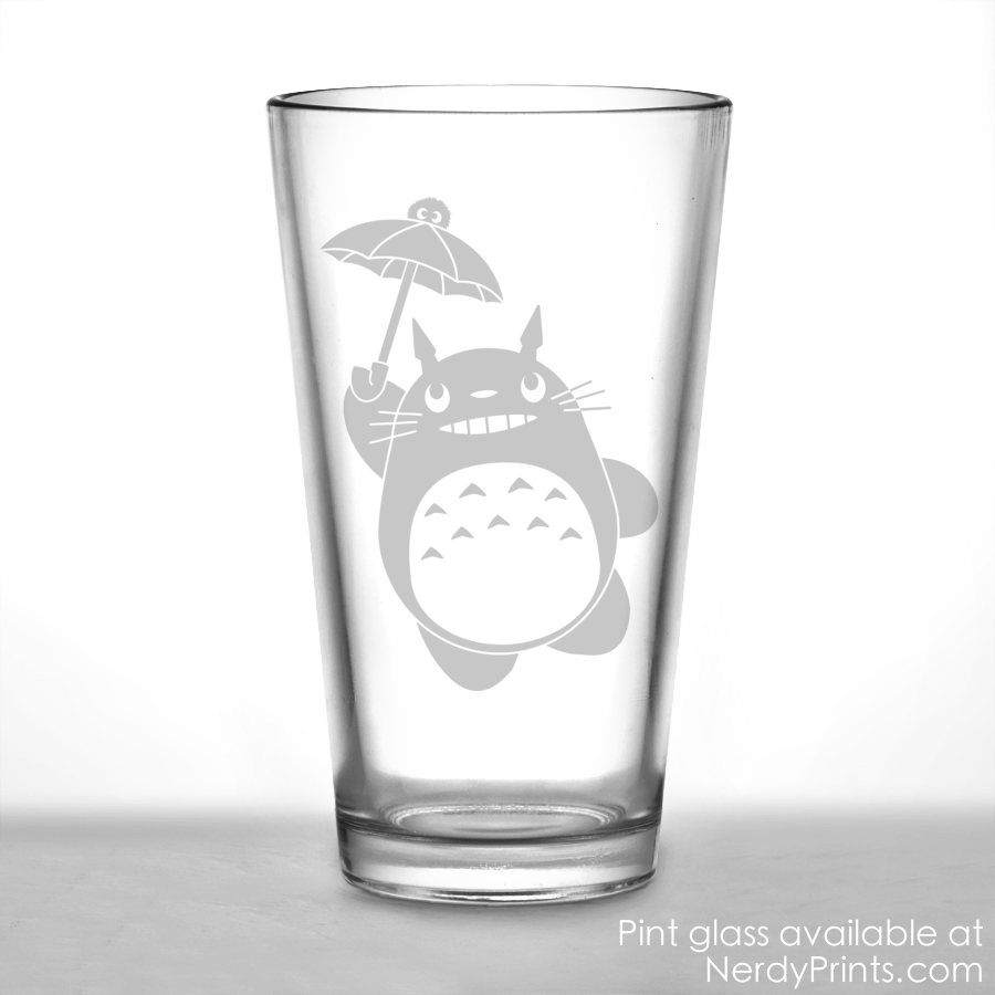 Image of My Neighbor Totoro Pint Glass (New Design!)