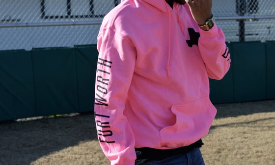"Image of ""Heart of Texas"" II Hoodie / Pink and Black Colorway"