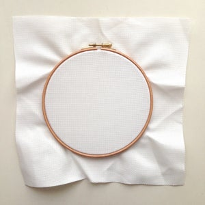 "Image of 7"" embroidery hoop"