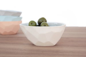 Image of faceted olive bowl
