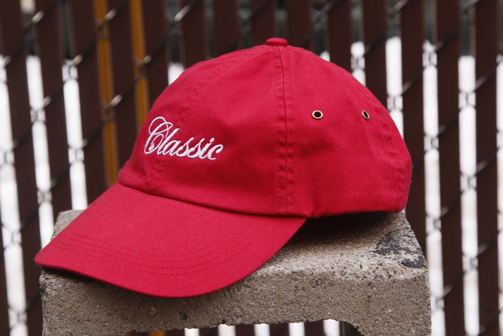 Image of Dad Hat (red)