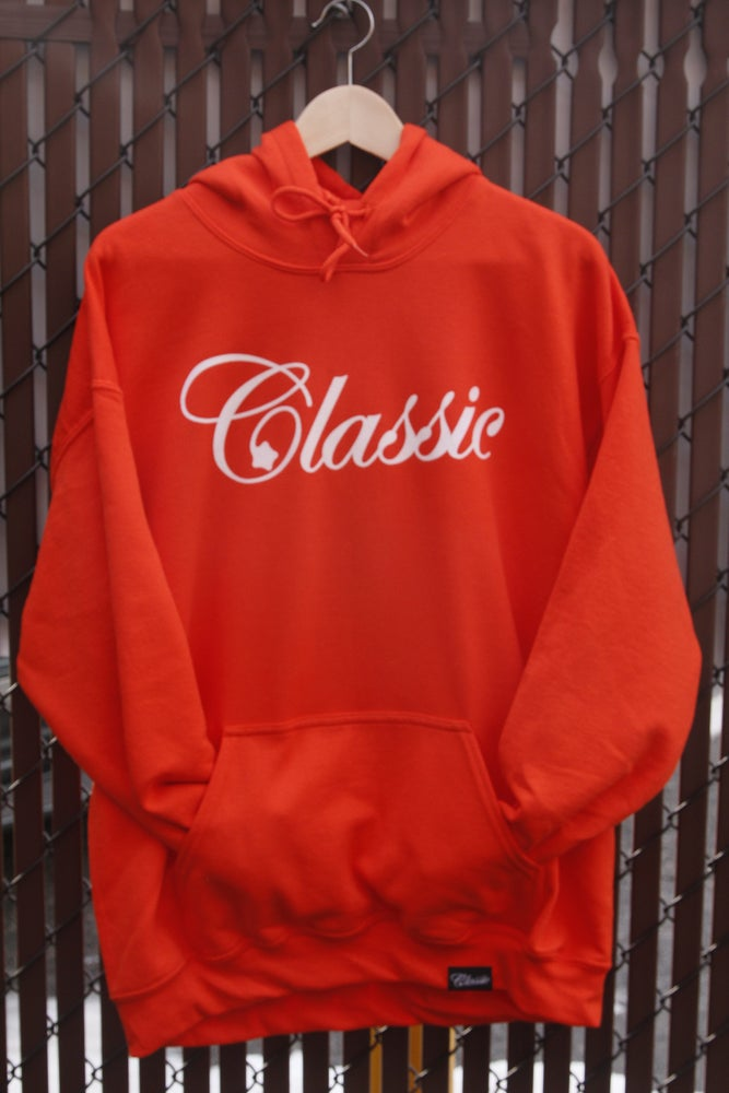 Image of Script hoodie (orange)
