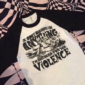 Image of VIOLENCE 3/4 sleeve mens raglan