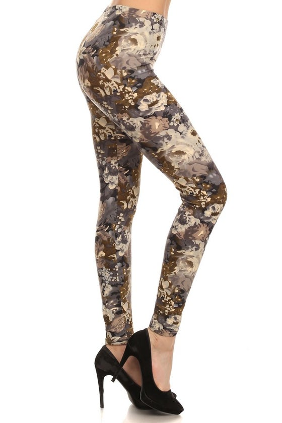 Image of Classy Susie- Grey & olive floral