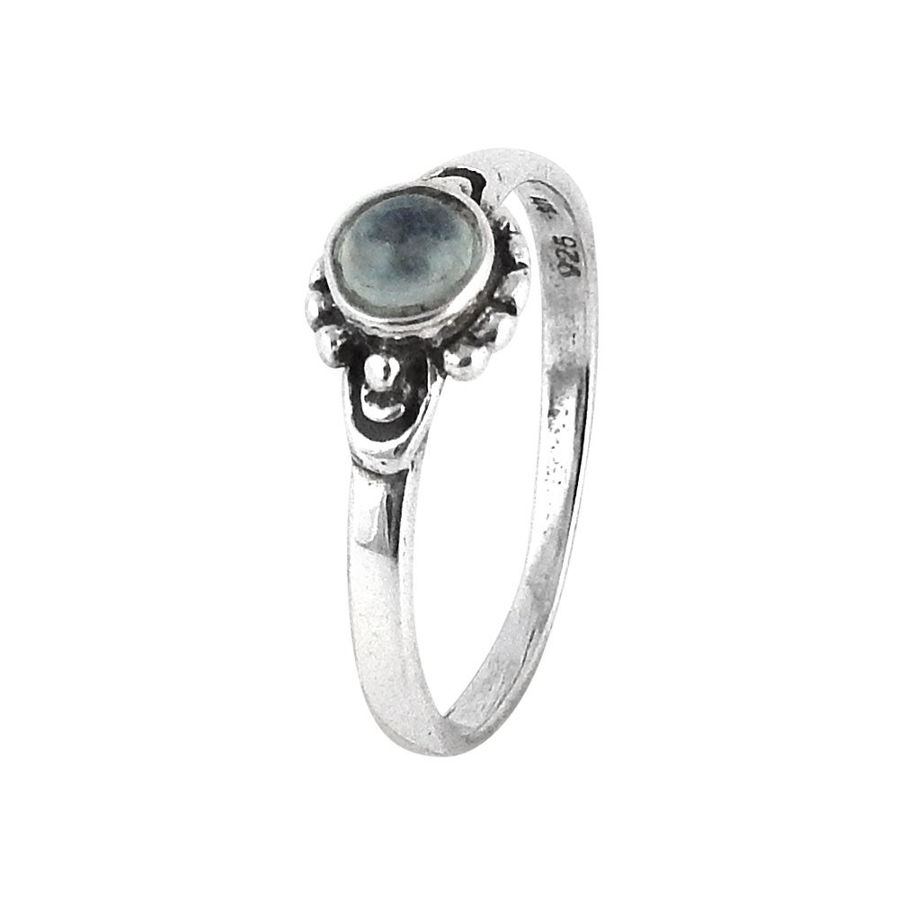 Image of Sterling Silver & Rainbow Moonstone Horizon Ring