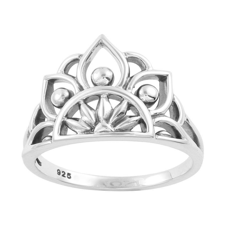 Image of Sterling Silver Mandala Love Ring