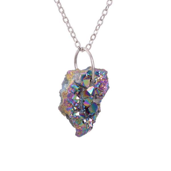 Image of Titanium Quartz Cluster Necklace