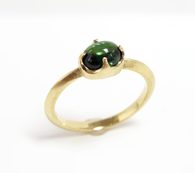 Image of Tourmaline Single Claw Ring 18k