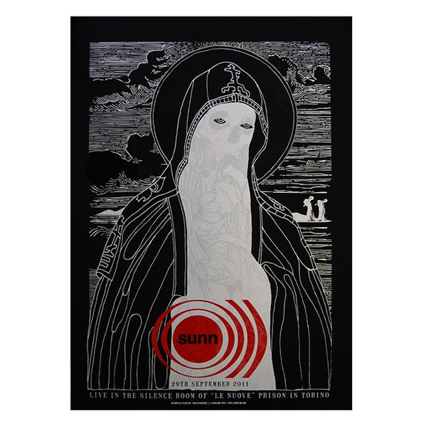 Image of SUNN 0))) - Live in the Jail TORINO 2011 - BLACK VERSION