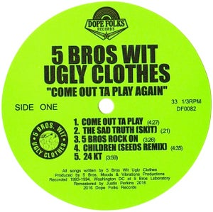 "Image of 5 BROS WIT UGLY CLOTHES ""COME OUT TA PLAY AGAIN"" EP"