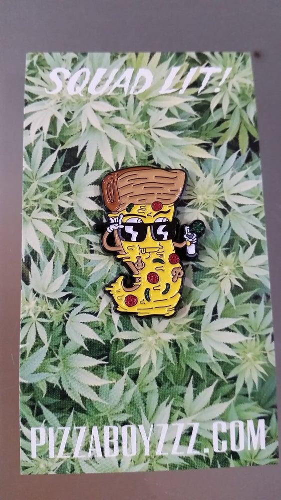 Image of  GRAFFLIFE STREET SLICE PIN - HA! X PIZZABOYZZZ