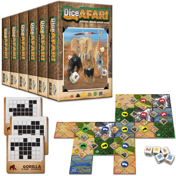 Image of DiceAFARI - Case of 6 Games