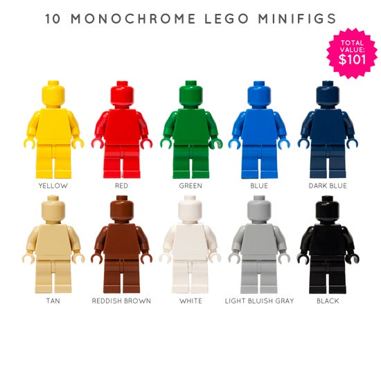 Image of SET OF 10 LEGO MONOFIGS
