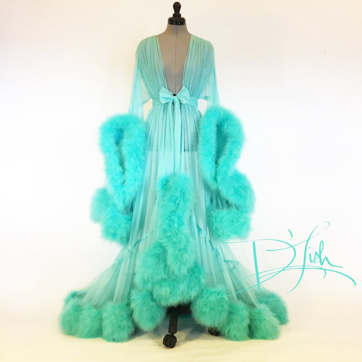 Dressing Gowns And Robes: Deluxe Mint Cassandra Dressing Gown