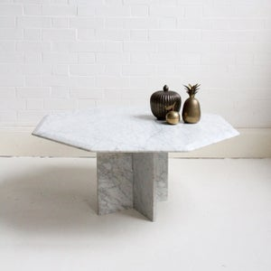 Image of Octagonal marble table