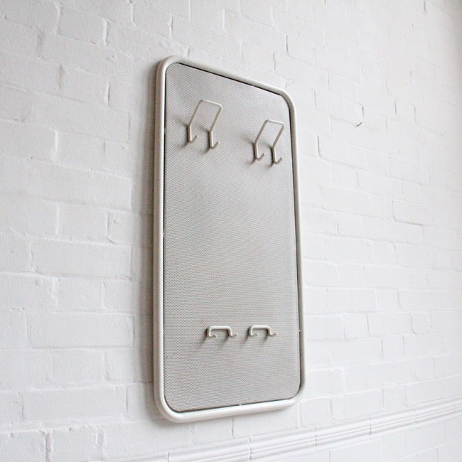 Image of White metal coat rack from Germany