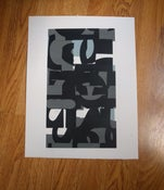Image of Typographic collage - 3 colour screen print