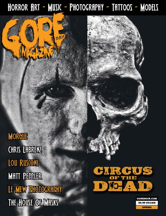 Image of Circus of the Dead sideshow themed issue # 15 (feat. Morgue/Peppler/Rusconi/House of Masks)