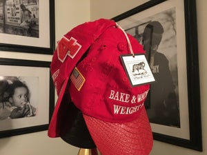 Image of (Limited Edition) Hand Distressed Red Python Bake & Water Whip Weight Again Hat