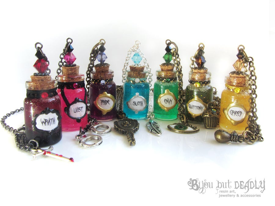 Image of 7 Deadly Sins Bottle Necklace