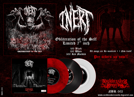 "Image of Inert "" Obliteration of the Self ""  White  7""EP limited to 100 copies /woven patch pre order"
