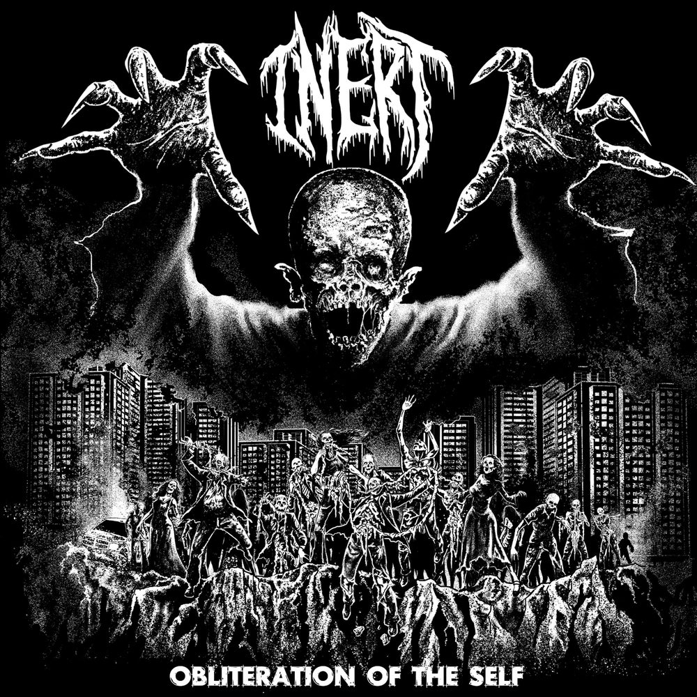 """Image of Inert """" Obliteration of the Self """"  White  7""""EP limited to 100 copies /woven patch pre order"""