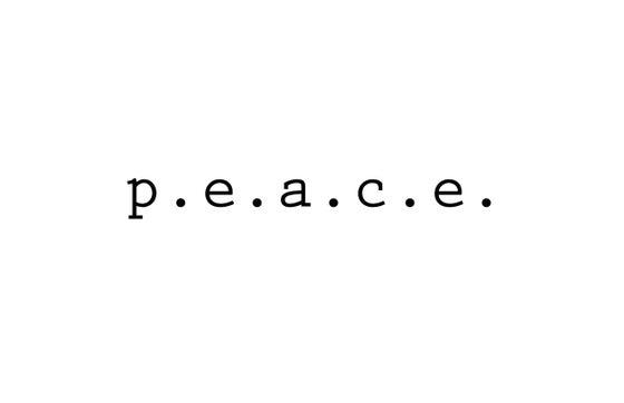 Image of p.e.a.c.e. print