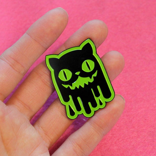Image of Slime Cat Enamel Pins