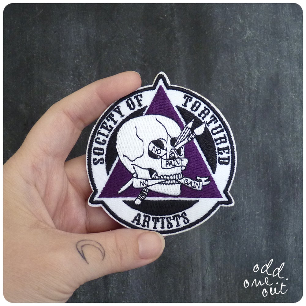 Image of Tortured Artist - Iron on Gang Patch