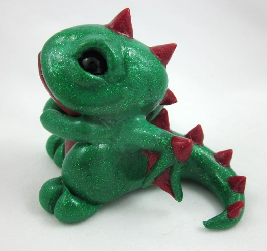 Image of Sparkling Green & Red Dragon