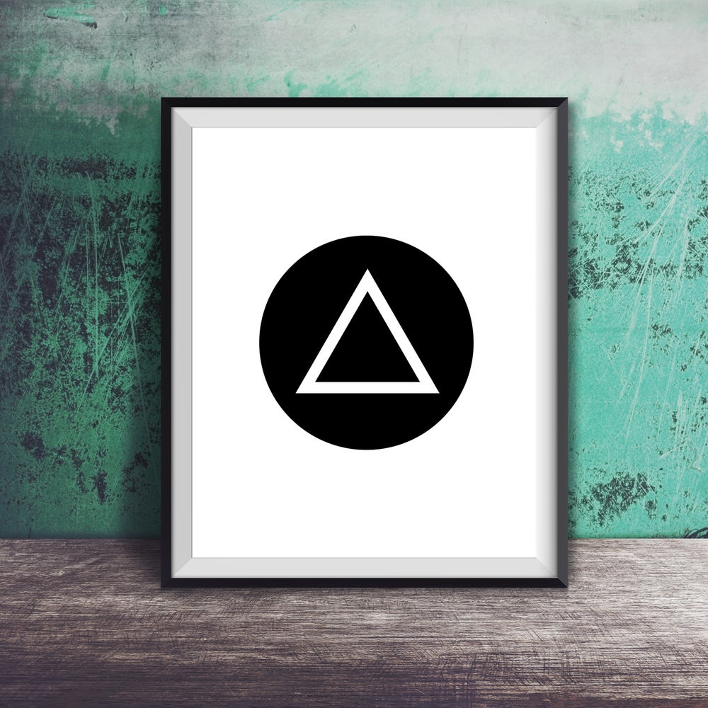 Image of DIGITAL DOWNLOAD Modern AA Symbol Art Print - Other Colors Available