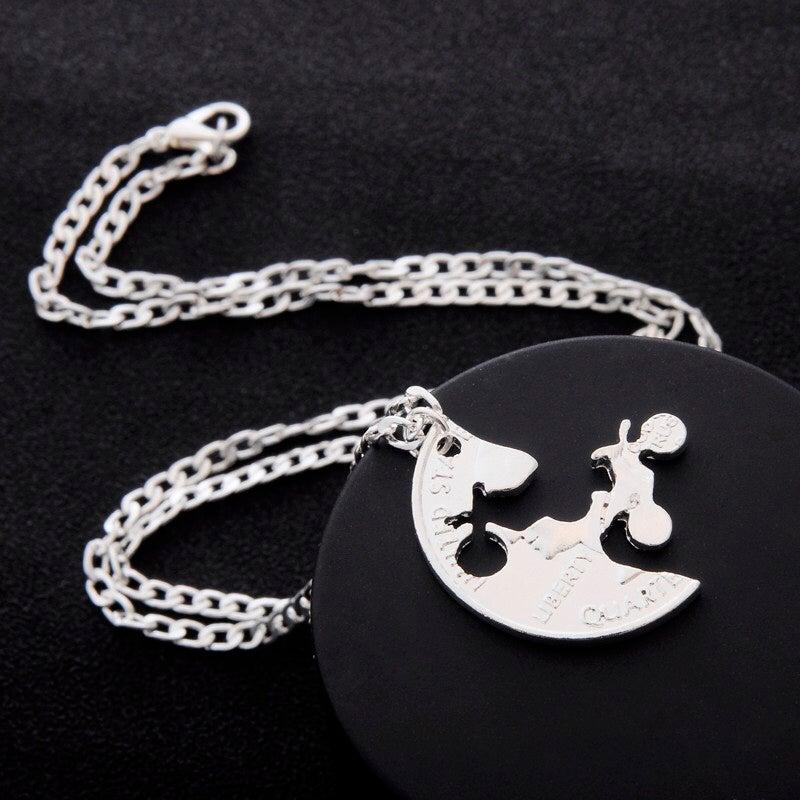 Image of Dirt Bikes Couples/Best Friend Necklace Set