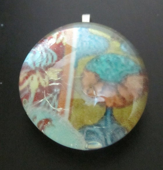 Image of Vivid Patterns - Upcycled Glass Cabochon Pendant