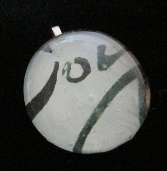 Image of Joy - Upcycled Glass Cabochon Pendant