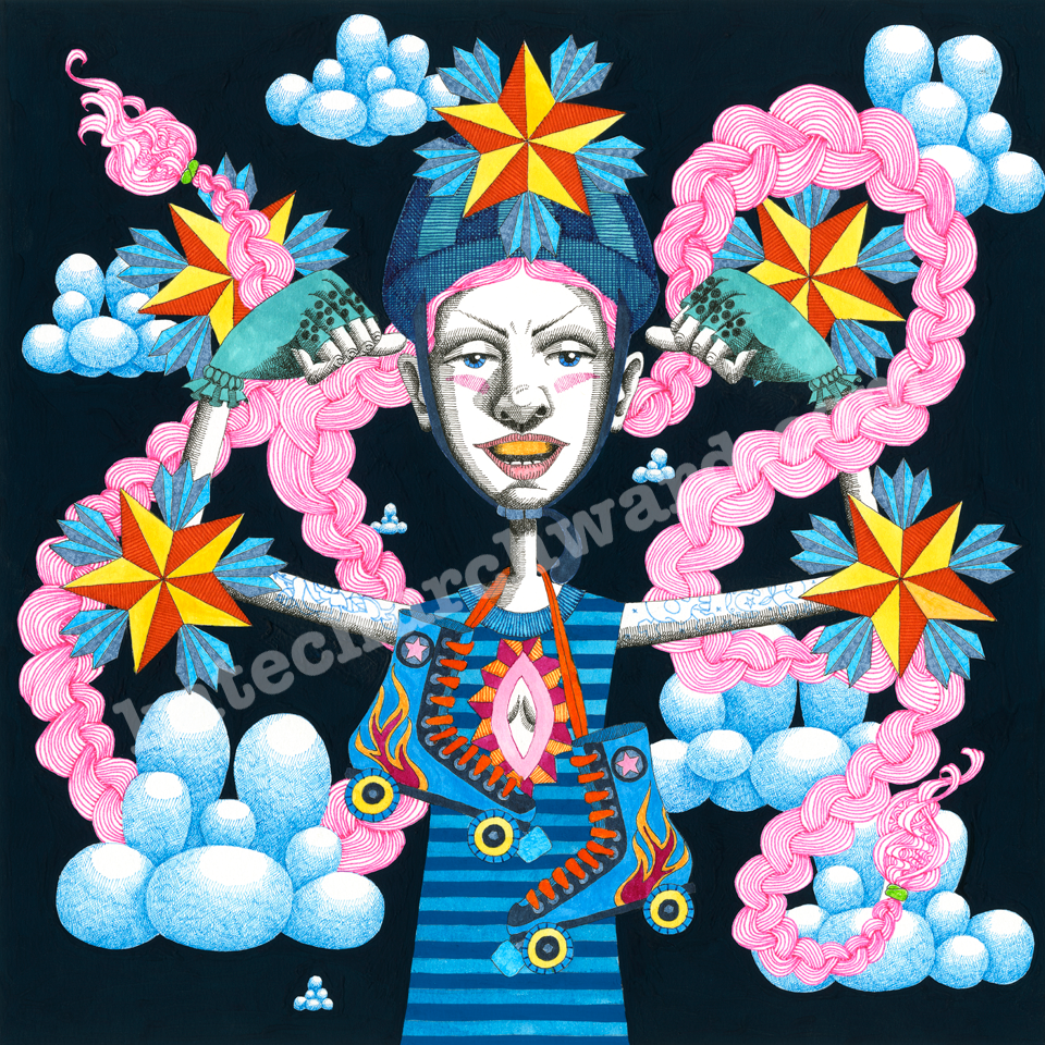 Image of Goddess #17 - Limited Edition print (size A0)/Print (A3)