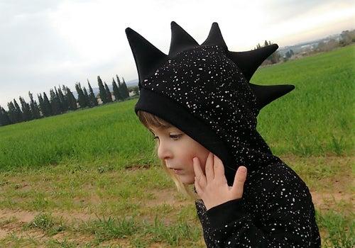 Image of Black Dragon Cool Playsuit  אוברול דרקון שחור