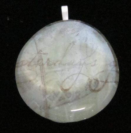Image of Yesterdays - Upcycled Glass Cabochon Pendant