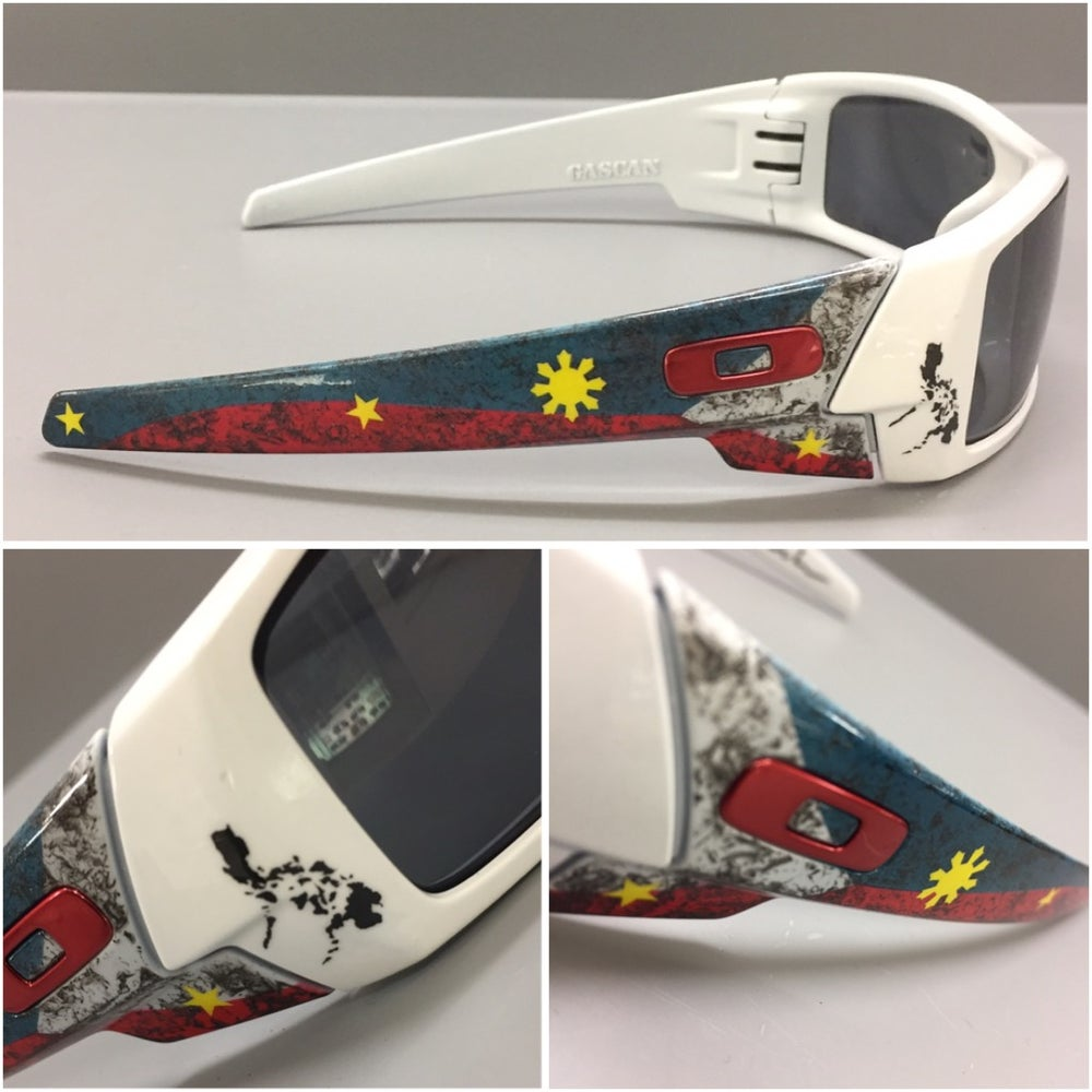 Image of Oakley GASCAN Artist Etd Filipino Flag POLARIZE Sunglasses