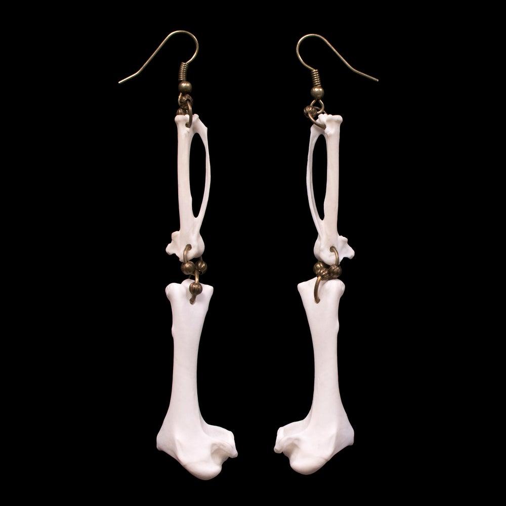 """Image of """"Paloma"""" Dove Bone Earrings"""