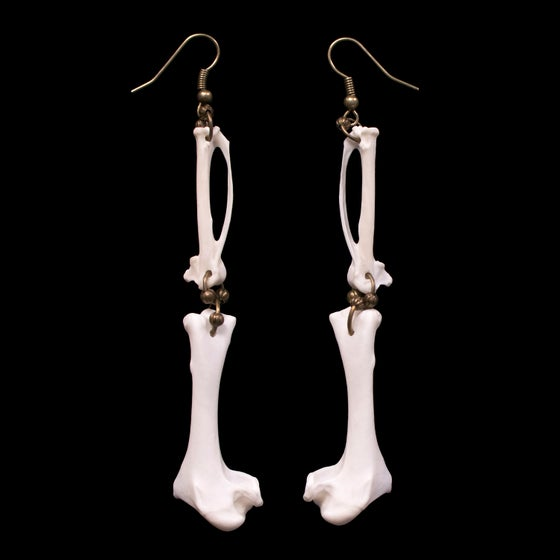 "Image of ""Paloma"" Dove Bone Earrings"
