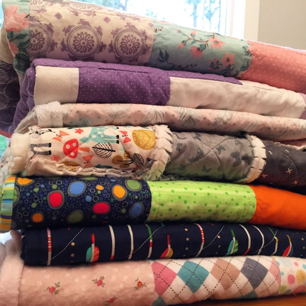 Image of Baby Clothes Memory Quilt