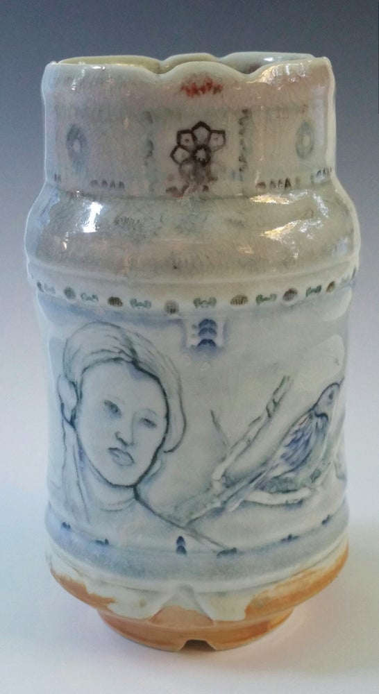 Image of Indigo Moonsong  Porcelain Vase