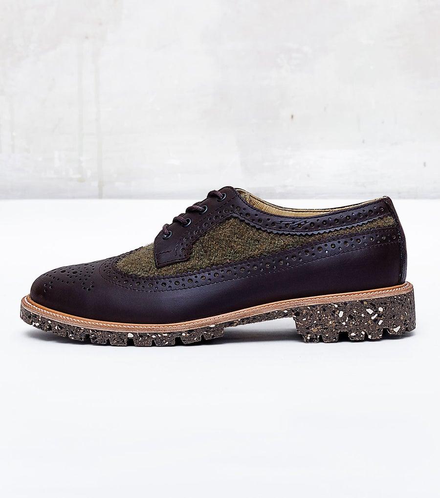 Image of Handmade Shoes | 602 Brogue Wingtip Green Edition
