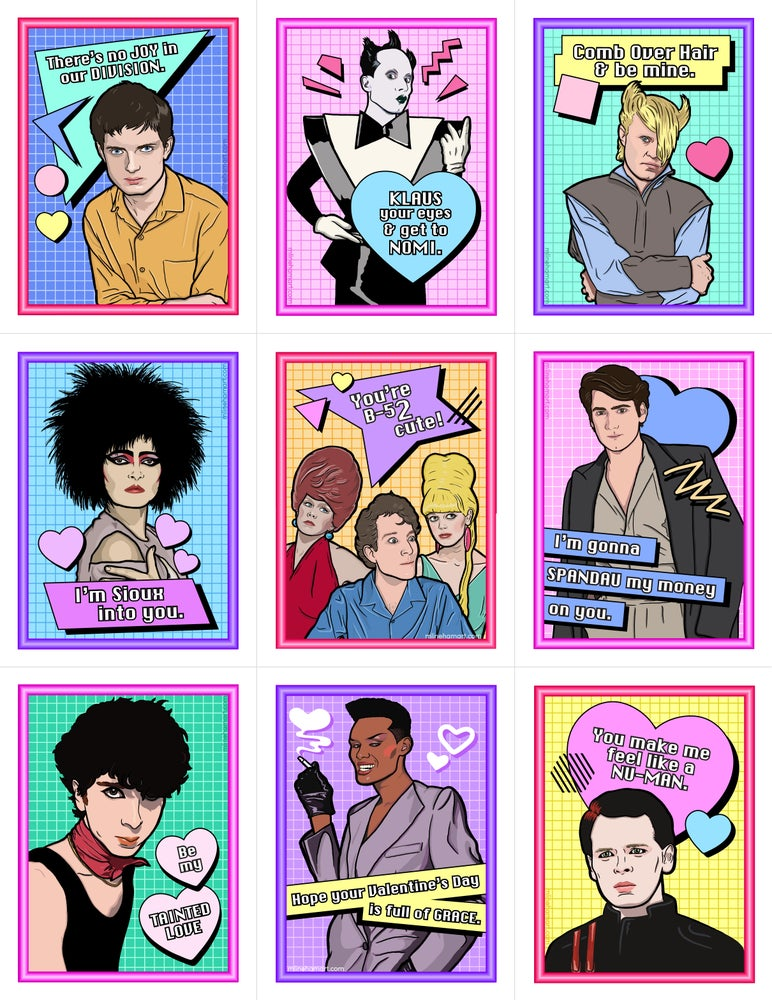 Image of New Wave Valentine's Day Card Pack (2017)